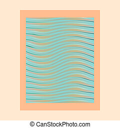abstract waves photo frame