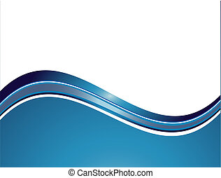 Abstract waves - Vector abstract white background with...