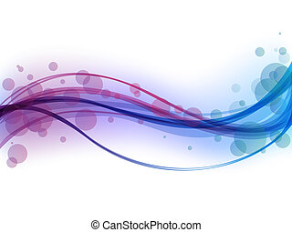 abstract waves - vector illustration of a colorful ...