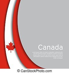 Abstract waving flag of canada. Creative background in canada flag colors for holiday card design. National Poster. State canadian patriotic cover, business booklet, flyer. Paper cut. Vector design