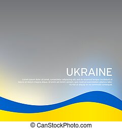 Abstract waving flag of ukraine. Creative background for patriotic holiday card design. National Poster. Cover, banner in state colors of Ukraine. Vector design