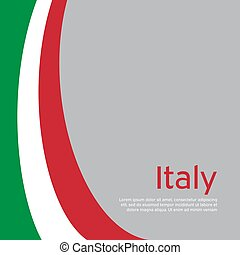 Abstract waving italy flag. Creative background in Italy flag colors for holiday card design. National Poster. State Italian patriotic cover, business booklet, flyer. Vector tricolor design