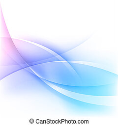Abstract wavy background - Abstract blue wavy lines ...