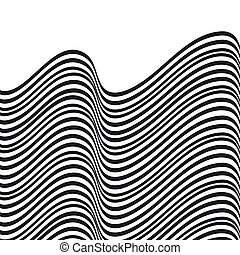 Abstract wavy background. Black and white pattern.