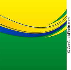 Abstract wavy background in Brazilian colors - Illustration...