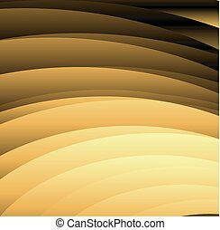 Abstract wavy background in golden