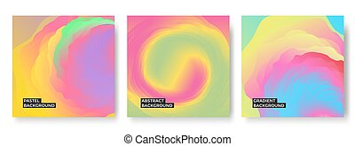Abstract wavy background in pastel colors