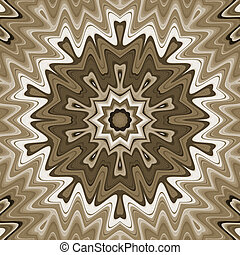 Abstract wavy background, mandala