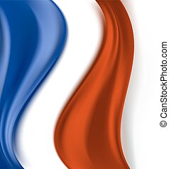 abstract wavy background with blue and red colors. vector illustration