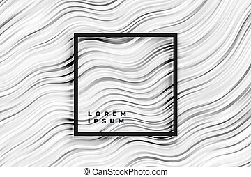 abstract wavy black and white stripes background