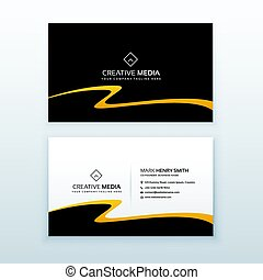 abstract wavy business card vector design template