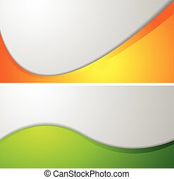 Abstract wavy corporate banners