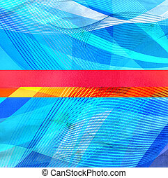Abstract wavy elements background