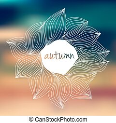 Abstract wavy hand-drawn object. Circle background. Template for design and decoration.