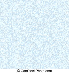 Abstract Wavy Light Blue Seamless Texture