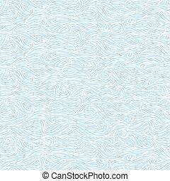 Abstract Wavy Light Blue Seamless Texture