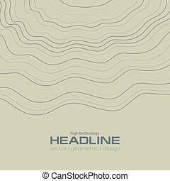 Abstract wavy lines corporate background