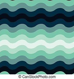 Abstract wavy ocean seamless pattern background. Vector