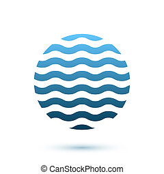 Abstract wavy round conceptual icon, sphere