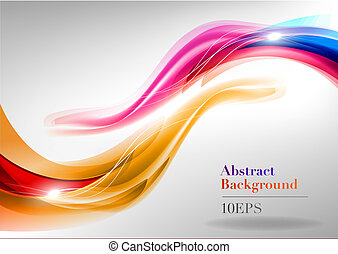 abstract wavy shapes on the light background