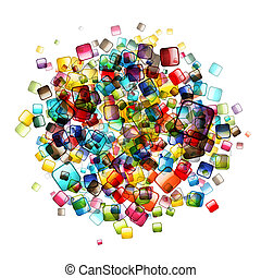 Abstract web buttons background for your design