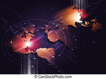 Abstract Web Connections Business Background