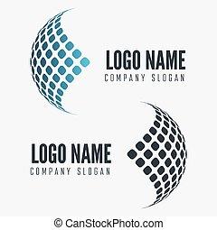 Abstract web icon, globe abstract vector logo - Abstract...