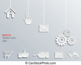 abstract web icon set vector
