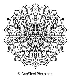 Abstract web outline on a white background