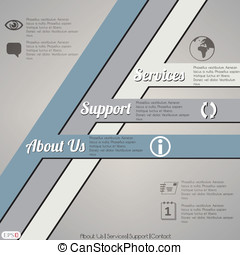 Abstract web site design template