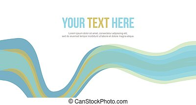 Abstract website header blue wave style