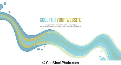 Abstract website header wave style collection stock