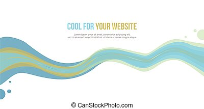Abstract website header wave style design