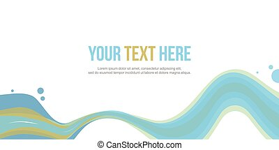 Abstract website header wave style stock