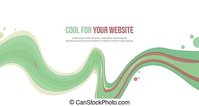 Abstract website header wave style