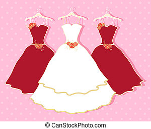 abstract wedding dress - an illustration of a white wedding...