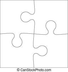 Abstract white Background icon Illustration jigsaw puzzle.