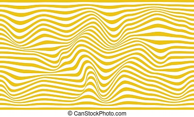 Abstract white background of wavy yellow lines. Vector illustration.