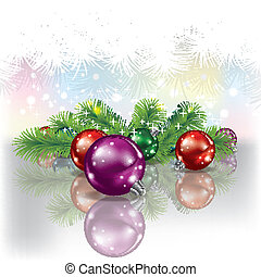 Christmas tree and color decorations