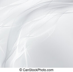 abstract white background with smooth wavy ines