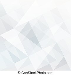 Abstract white background with triangles shapes