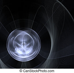 Abstract white ball of light