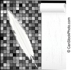 abstract white black background with pen