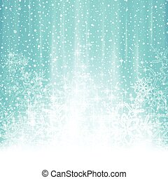Abstract white blue winter Christmas background with snowfall