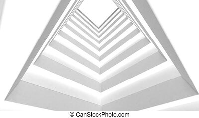 Abstract white building on a white background.