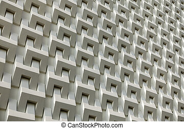 Abstract white cement block wall pattern