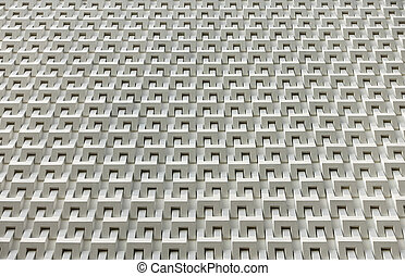 Abstract white cement block wall