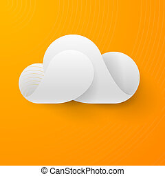 Abstract white cloud