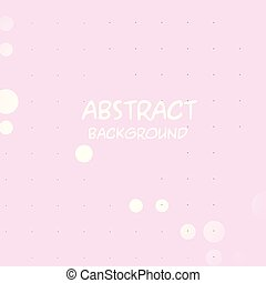Abstract White Dots Pink Background Vector Image