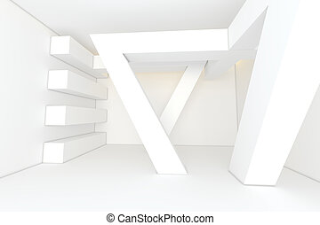 Abstract white empty room